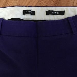 J. Crew Pants - J Crew Minnie 4 purple