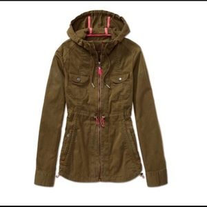 Athleta anorak jacket military green