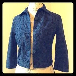 Benetton Jackets & Blazers - Stile Benetton cropped textured jacket