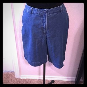 Kim Rogers Pants - Kim Rogers Denim Flat Front Walking Shorts Size 14