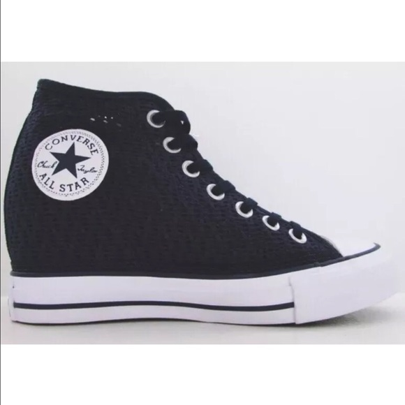 Converse All Star Lux Dress Blues Wedge Sneakers 68956ef14