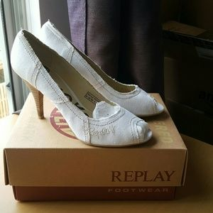 Replay Shoes - FINAL SALE Replay peep toe pumps