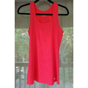 Bright coral workout tank