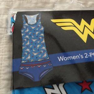 NWT sz L Wonder Women's 2 PC Cami & panty set