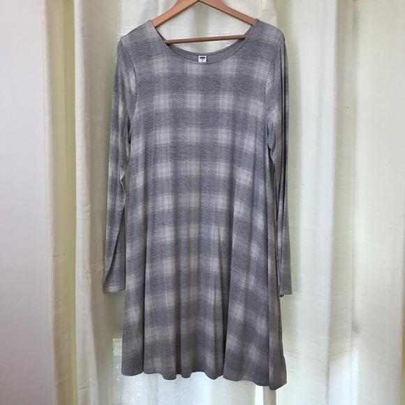 3aa41d24845d Old Navy Plaid Printed Swing Dress. M_58161ea79c6fcfd2a600b44d