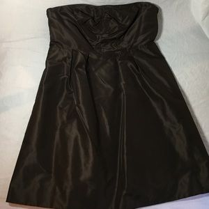 JCrew special occasion dress. Chocolate brown.