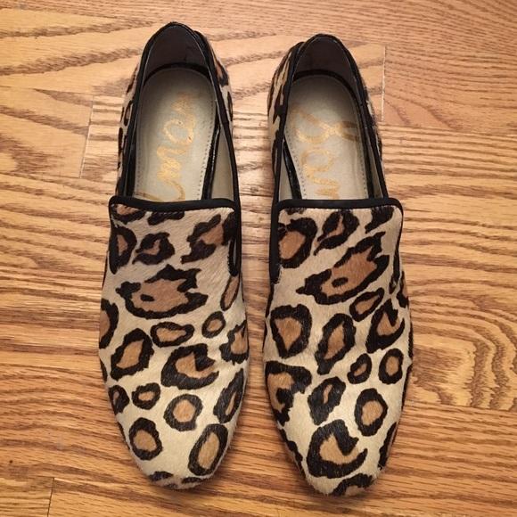 4d0e9774a Sam Edelman Kalinda Leopard-Print Calf Hair Loafer.  M 58161fd3eaf0304fd800b82e
