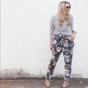 Old navy fall floral pants
