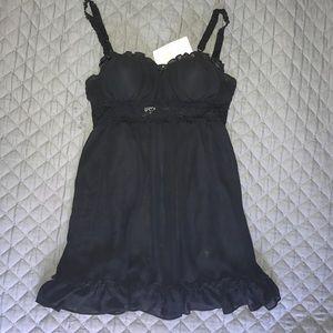 Other - Black chiffon ruffle negligee set