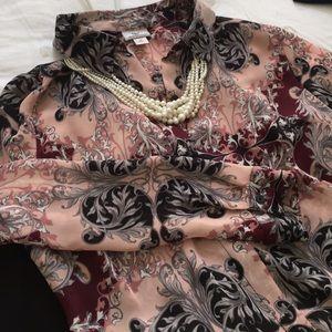 Pinks grey & black blouse