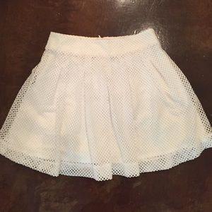 White knit banana republic skirt