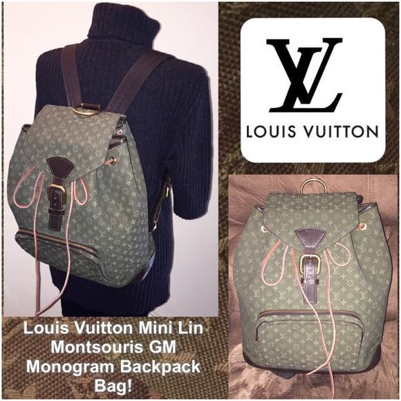 2514db6f491c1 Louis Vuitton Handbags - Louis Vuitton Mini Lin Montsouris GM Backpack Bag!