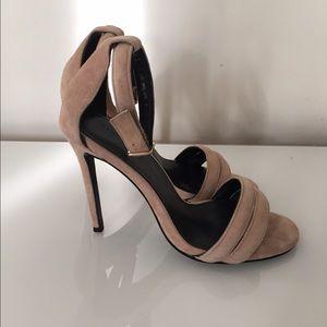 Nicholas Shoes - New Nicholas Nude Suede Stilleto Sandals 36.5
