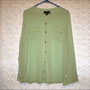Dana Buchman Tops - FINAL PRICE Dana Buchman Button Down Mint Shirt