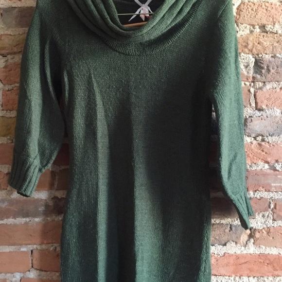 77% off Derek Rose Dresses & Skirts - Olive green, cowl neck ...