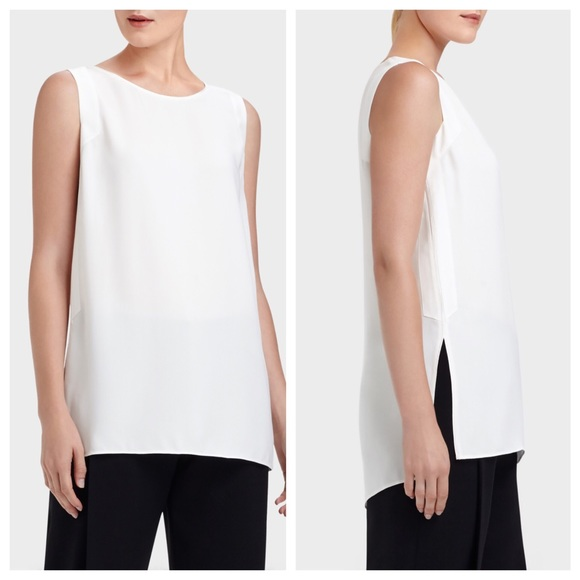 Lafayette 148 Sleeveless Silk Top w/ Tags Discount 2018 Cheap Real Authentic Cheap How Much Discount Latest Free Shipping Order qUoMkCnq2