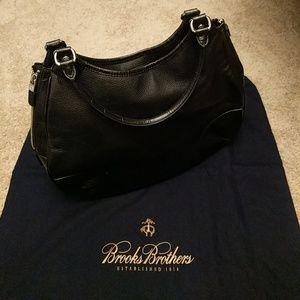 Brooks Brother Black Leather Purse