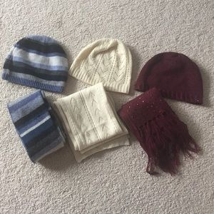 Accessories - Beenie and scarf sets $8 each or 3 for $22