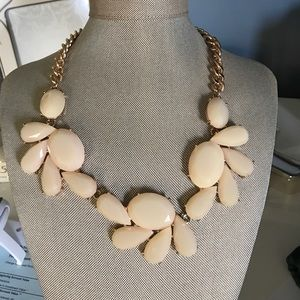 Blush Pink Stone Necklace and Earrings
