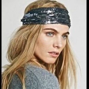 Free People Accessories - NWOT free people sequin headband hair wrap wide