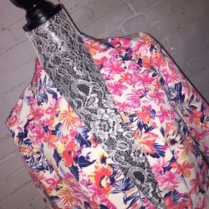 NWT STITCH FIX SKIES ARE BLUE FLORAL BLAZER