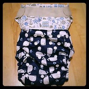 Other - Cloth baby diapers all in one. Nautical.