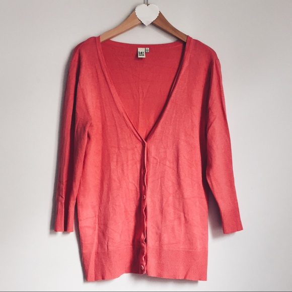 73% off 14th & Union Sweaters - 14th & Union coral cardigan from ...