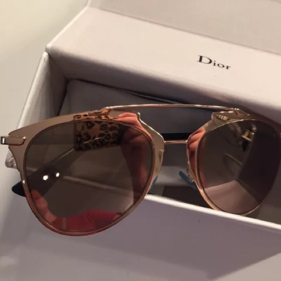 be6ba6059193 Dior Accessories - Authentic Dior Reflected Gold Sunglasses 3210R