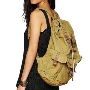Free People Handbags - FREE PEOPLE Bag Distressed Backpack Big Book Tote