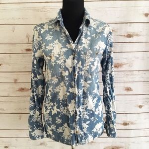 BDG Tops - BDG floral denim button down