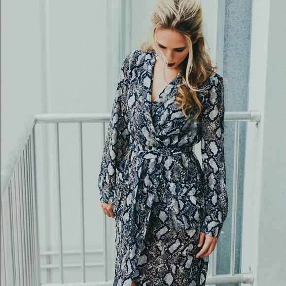9b081b12edf Bardot Dresses   Snake Print Wrap Dress   Poshmark
