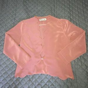 Jackets & Blazers - Dusty Pink scallop jacket