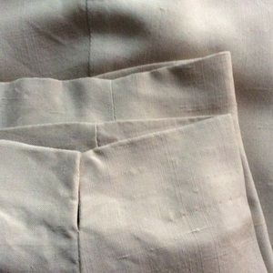 Pants - Tan silk pant - fully lined! Size 12.