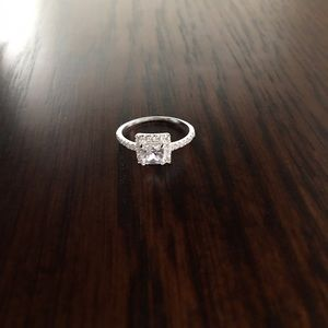 Sterling Silver Square solitaire Ring