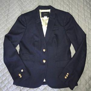 J.Crew Navy Wool Schoolboy Blazer