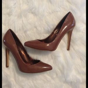 Colin Stuart Shoes - Toffee pointy toe stilettos
