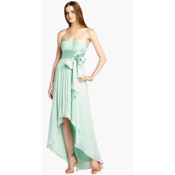 BCBGMaxAzria Dresses | Bcbg Silk Strapless High Low Gown | Poshmark