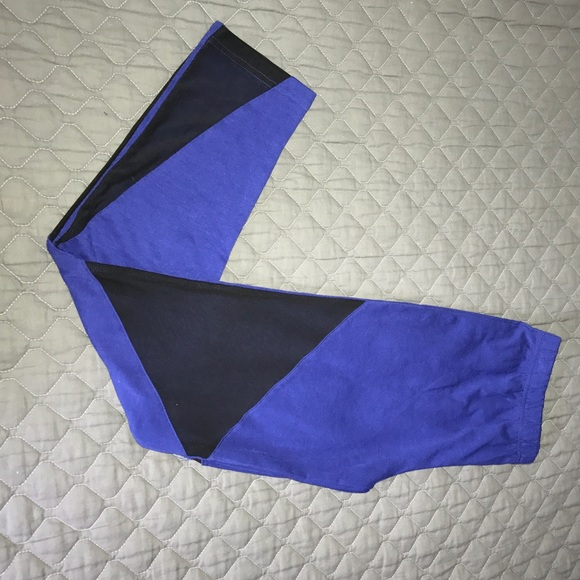 Pants - Royal Blue and Black Mesh Leggings