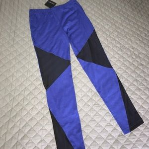 Blaque Market Pants - Royal Blue and Black Mesh Leggings