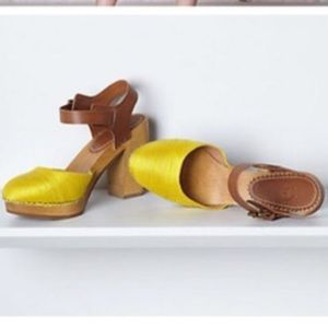 Anthropologie holding horse clogs