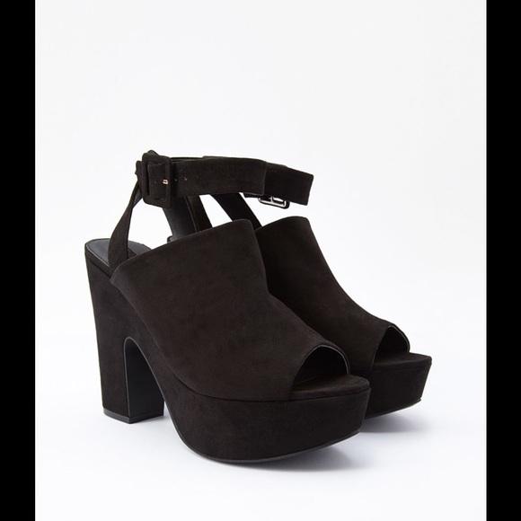 3775278c07a Forever 21 Shoes - Forever 21 Faux Suede Platform Sandals