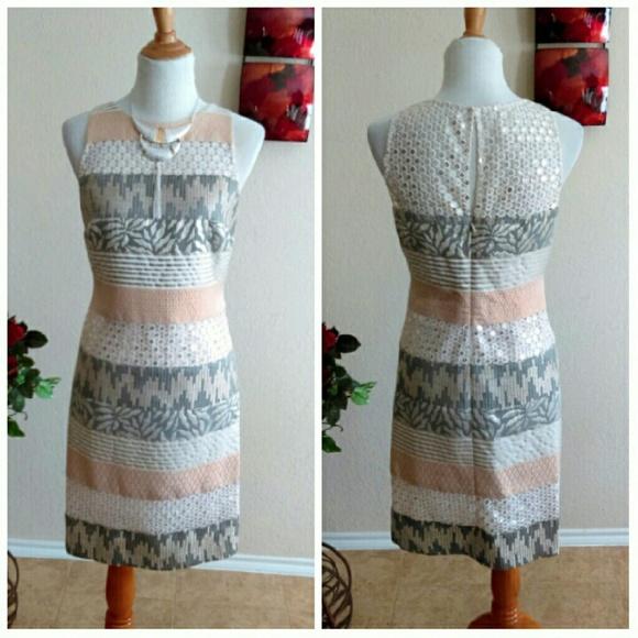 Kay Unger Dresses & Skirts - ⬇Kay Unger Multi Media Cream/Silver Dress