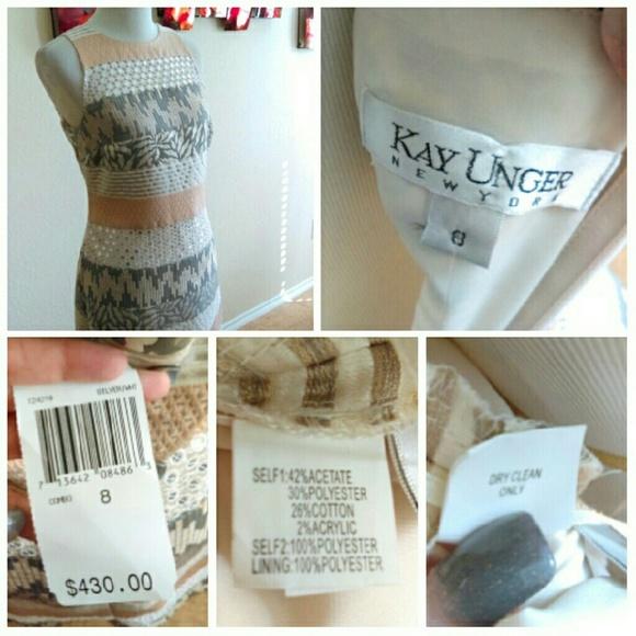 Kay Unger Dresses - ⬇Kay Unger Multi Media Cream/Silver Dress
