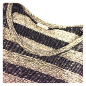 Nicolette Tops - Lurex striped dolman