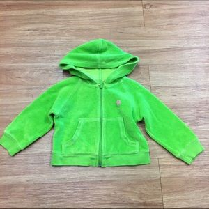 Lilly Pulitzer Other - Lilly Pulitzer Lime Green Terry Hoodie Jacket Girl