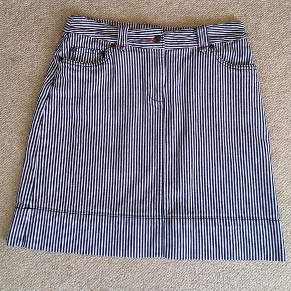 f8f94a115d Boden Dresses & Skirts - Boden striped denim skirt
