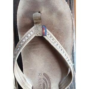 Rainbow Shoes - Rainbow 401 Swarovski Crystal Sandal 7.5-8.5