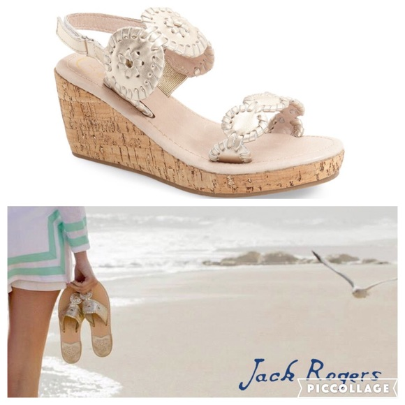 70c1bb7e775 Jack Rogers Other - KIDS!! Jack Rogers Miss Luccia Wedge Sandal sz 3