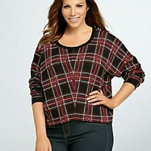 Sweaters - 🛇 SOLD Torrid 2X/3X Holiday Collection Plaid Top