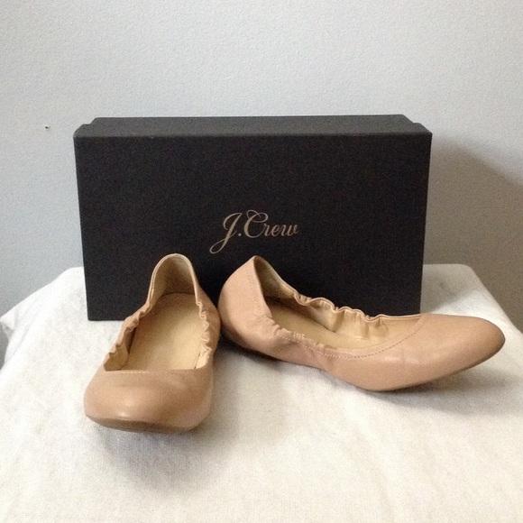 3403d2b74bdc J. Crew Shoes - J. Crew Nude Cece Ballet Flats 6.5